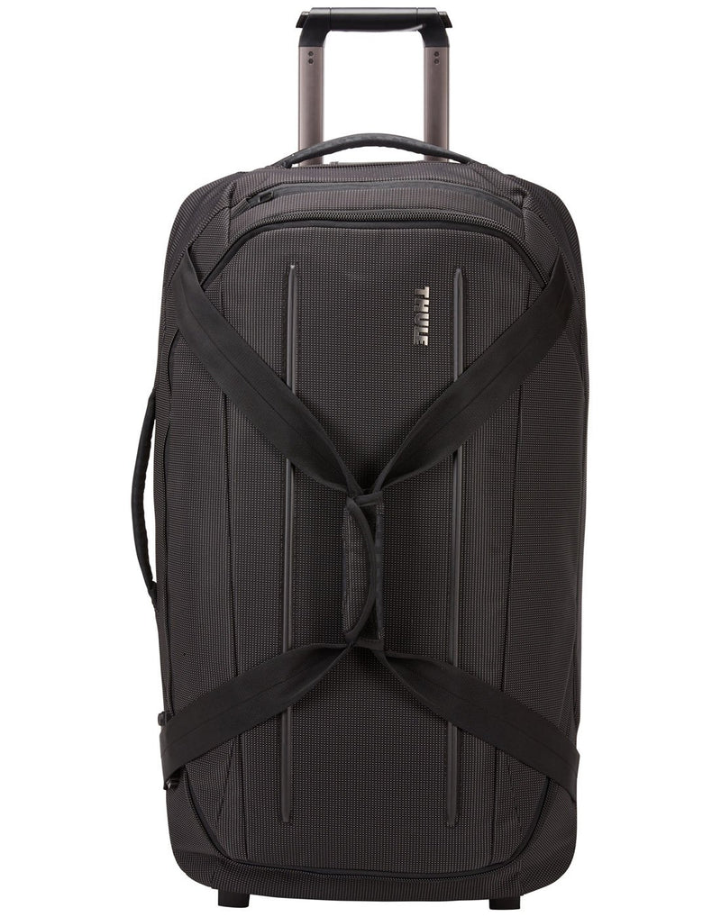 Thule crossover 2 wheeled black colour duffel bag front view