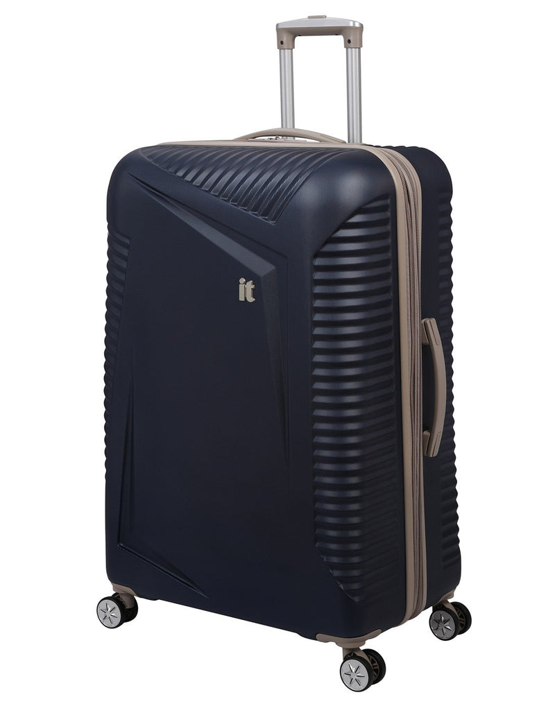 "It outlook 31"" spinner blue colour luggage bag front view"