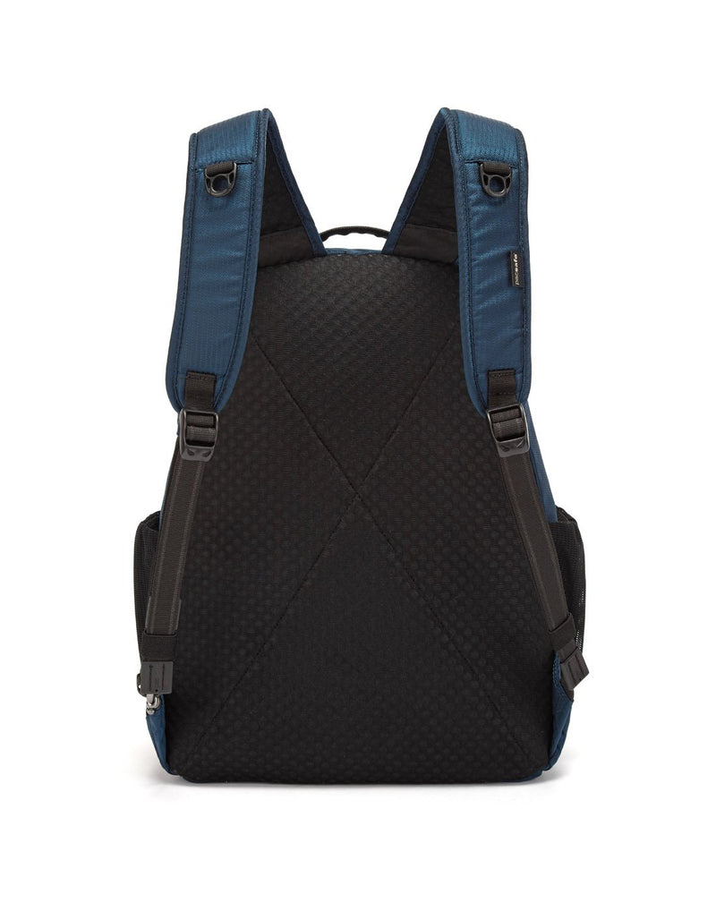 Pacsafe metrosafe ls350 econyl anti-theft recycled backpack back view