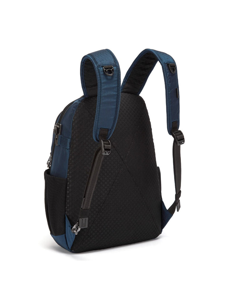Pacsafe metrosafe ls350 econyl anti-theft recycled backpack sideback view