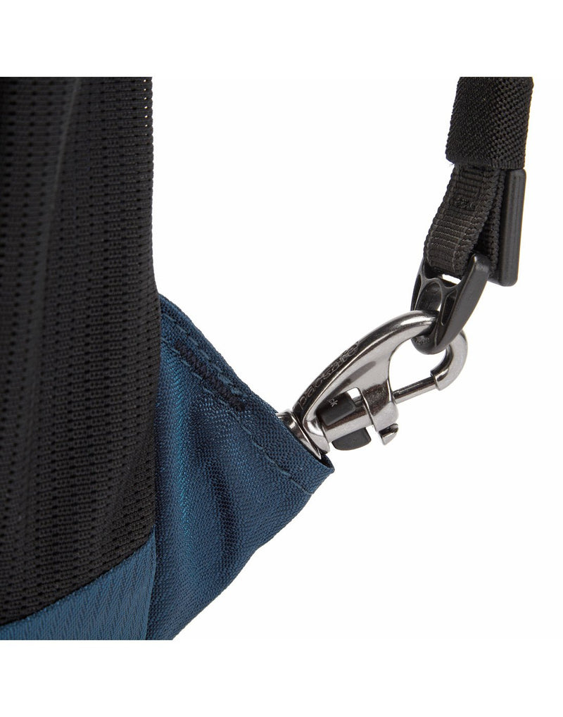 Pacsafe metrosafe ls350 econyl anti-theft recycled backpack strap holder