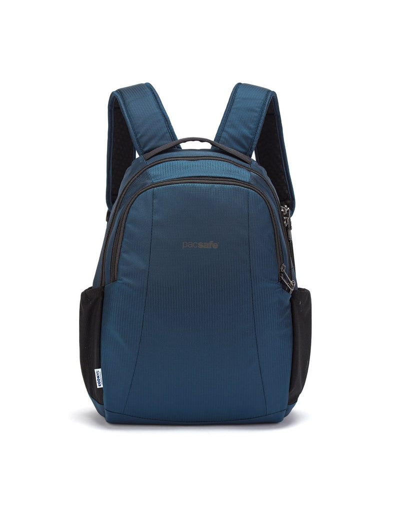 Pacsafe metrosafe ls350 econyl anti-theft recycled backpack front view