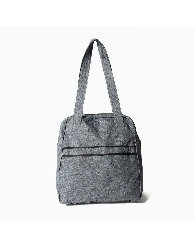 Lug puddle heather grey colur packable bag back view