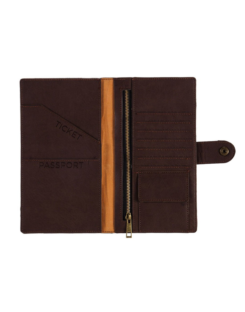 B. boutique document organizer dark brown colour interior view