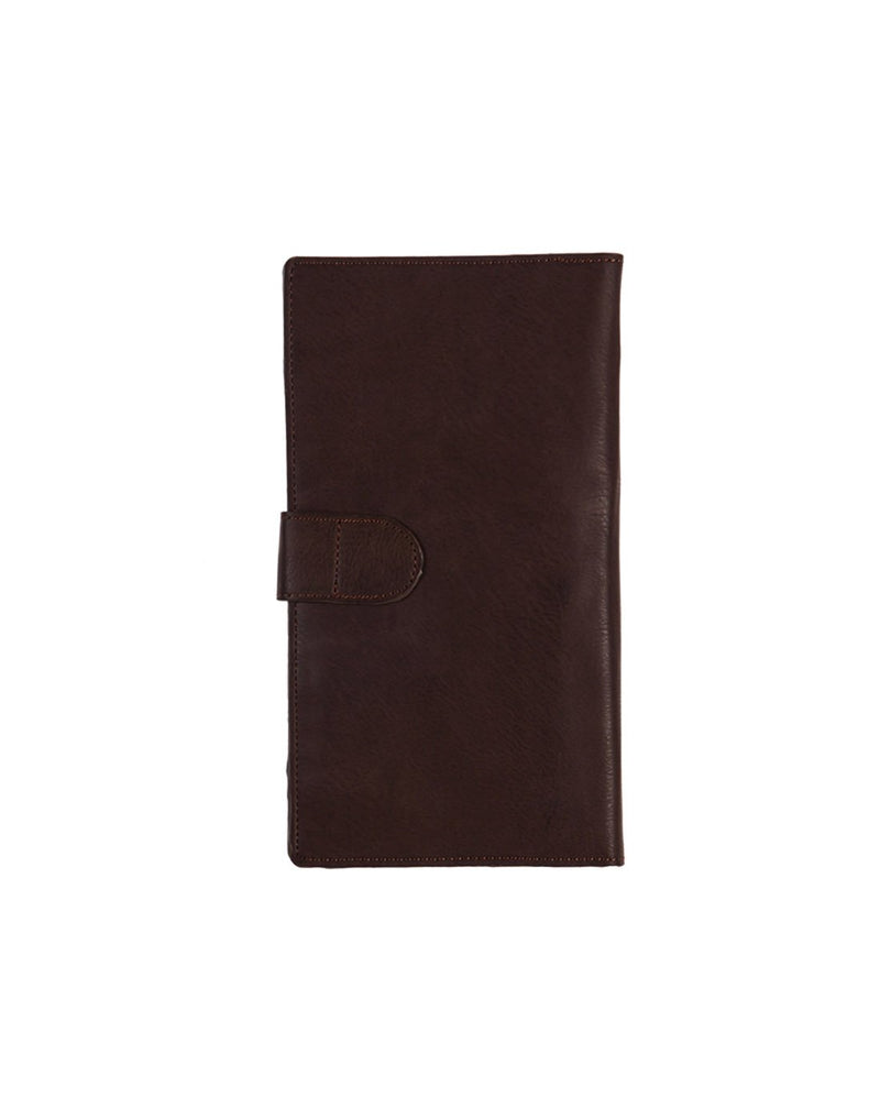 B. boutique document organizer dark brown colour front view