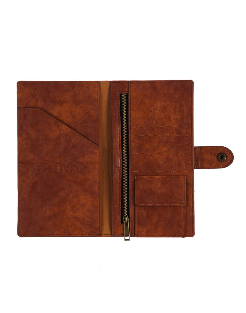 B. boutique document organizer light brown colour interior view
