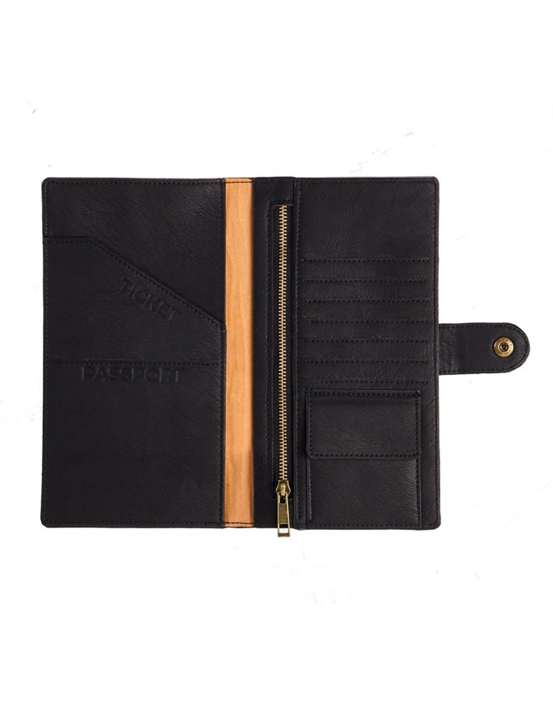 B. boutique document organizer black colour interior view