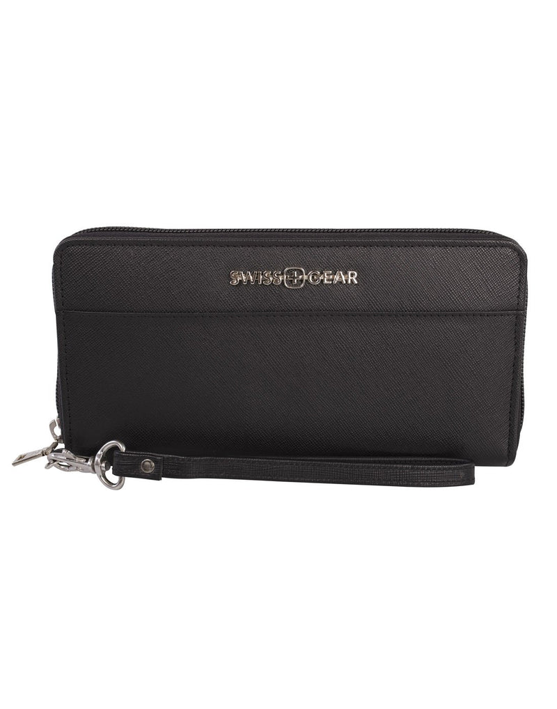 Swiss gear ladies leather zip around wallet front view