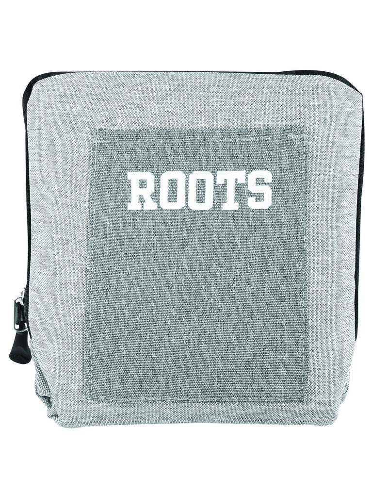 Roots foldable grey colour travel bag compressed