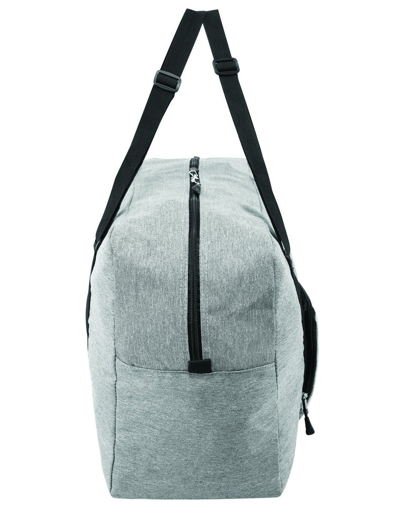 Roots foldable grey colour travel bag right side view