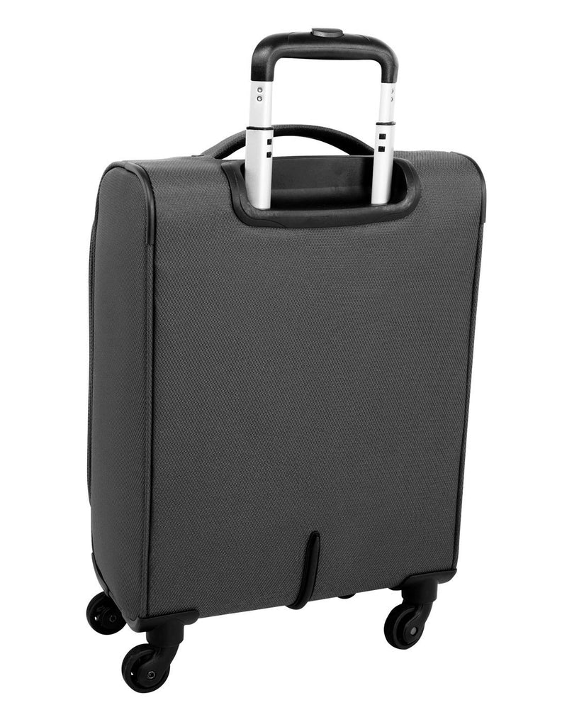 "Atlantic evo lite 19"" carry-on spinner charcoal colour luggage bag back view"
