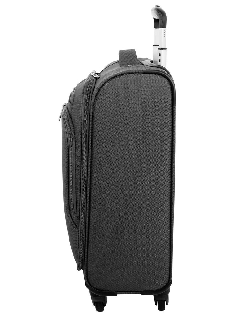 "Atlantic evo lite 19"" carry-on spinner charcoal colour luggage bag right side view"