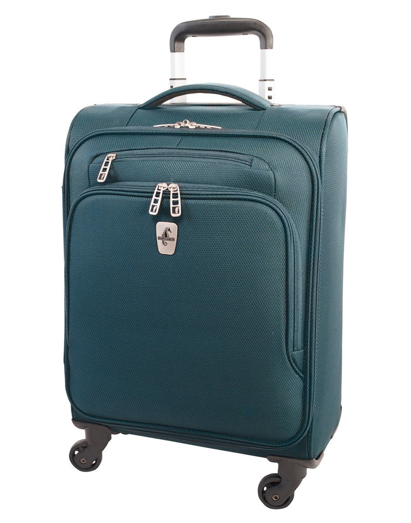 "Atlantic evo lite 19"" carry-on spinner teal colour luggage bag front view"