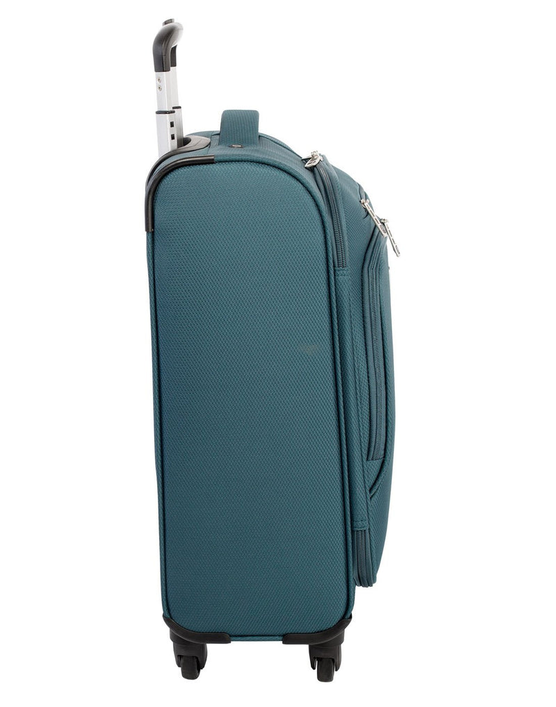 "Atlantic evo lite 19"" carry-on spinner teal colour luggage bag left side view"