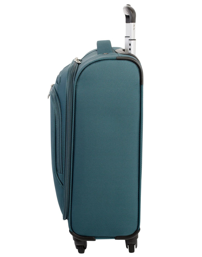 "Atlantic evo lite 19"" carry-on spinner teal colour luggage bag right side view"