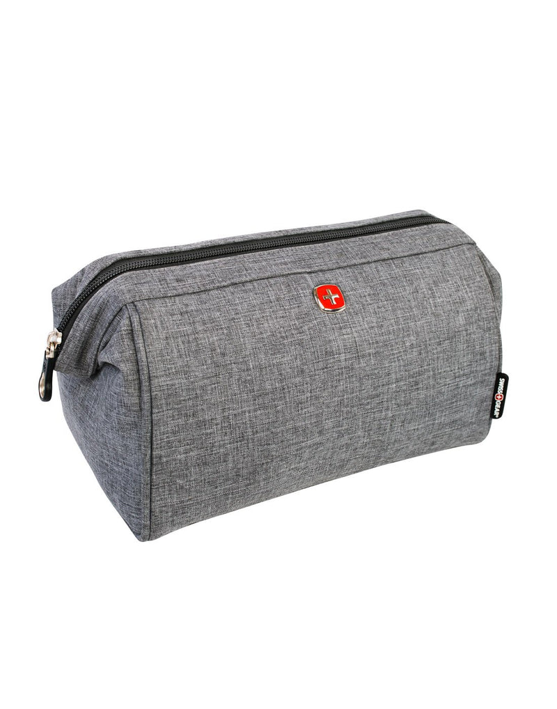 Swiss gear grey colour toiletries bag front view
