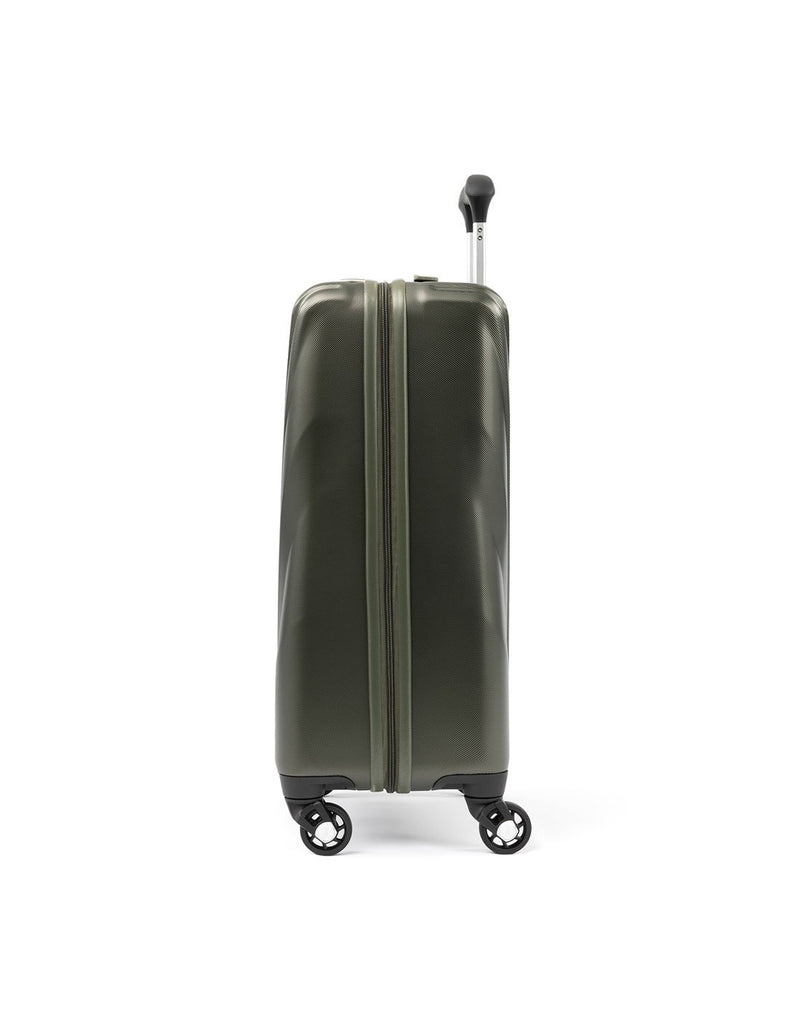 Travelpro maxlite 5 hardside slate green colour luggage bag side view