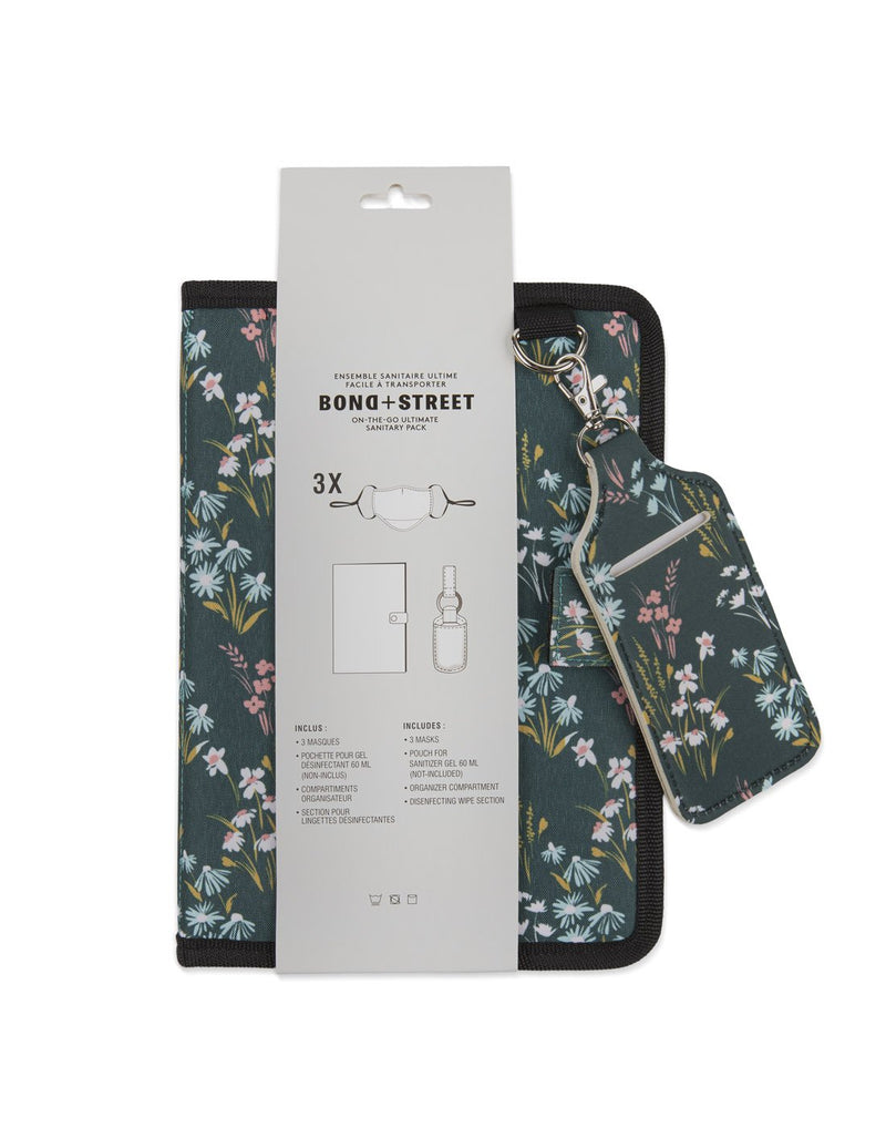 Bondstreet on-the-go ultimate sanitary pack floral colour packing front view