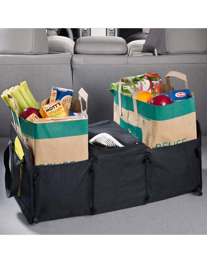 High road 3-in-1 cargo cooler tote black colour filled with groceries hero shot