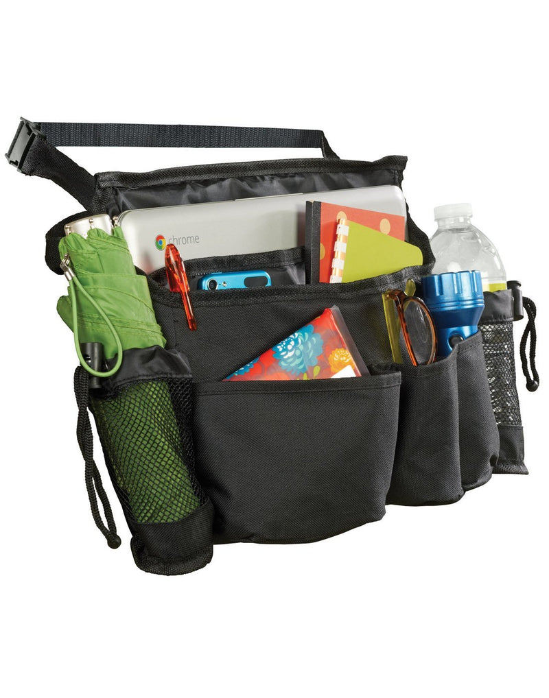 High Road SwingAway Car Seat Organizer shown with contents