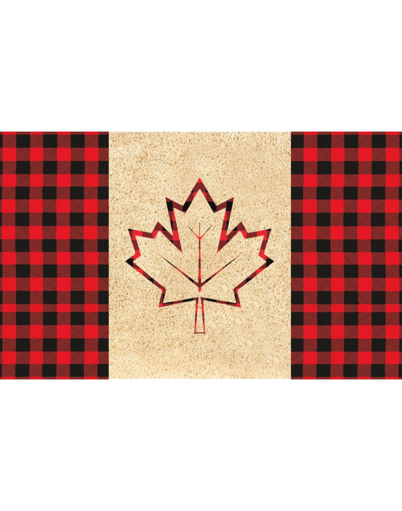 Coir mat plaid flag