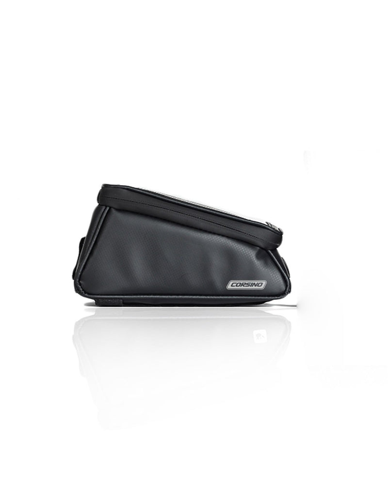 Corsino compass top tube bag - black colour side view
