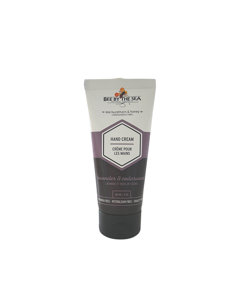 Bee by the Sea Hand Cream Tube - 2 oz - lavender and cedarwood scent