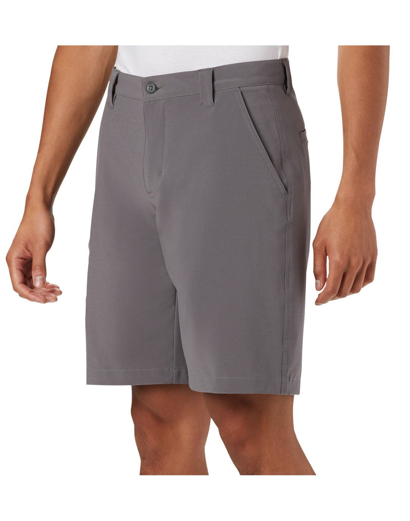 Columbia men's pfg terminal tackle™ short grey colour close up side view