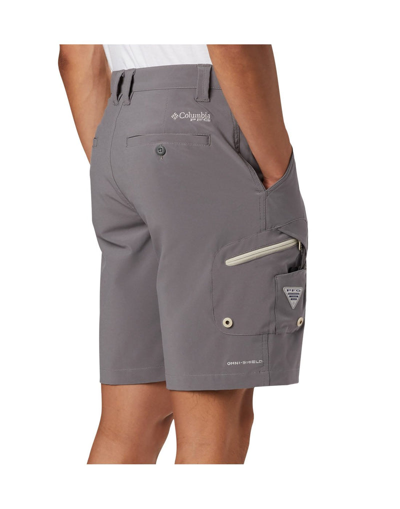 Columbia men's pfg terminal tackle™ short grey colour side view
