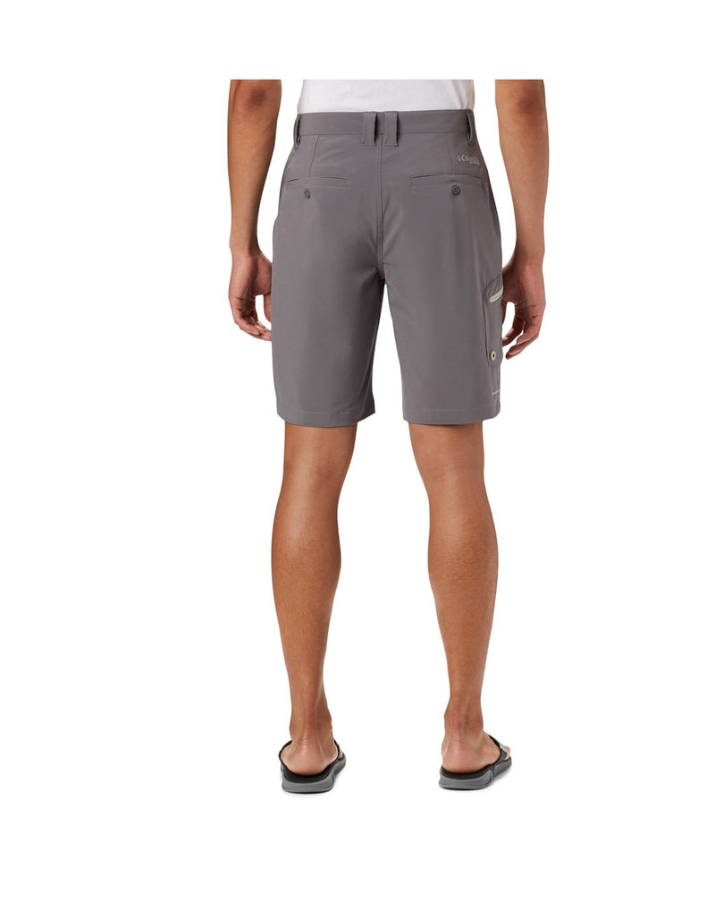 Columbia men's pfg terminal tackle™ short grey colour back view