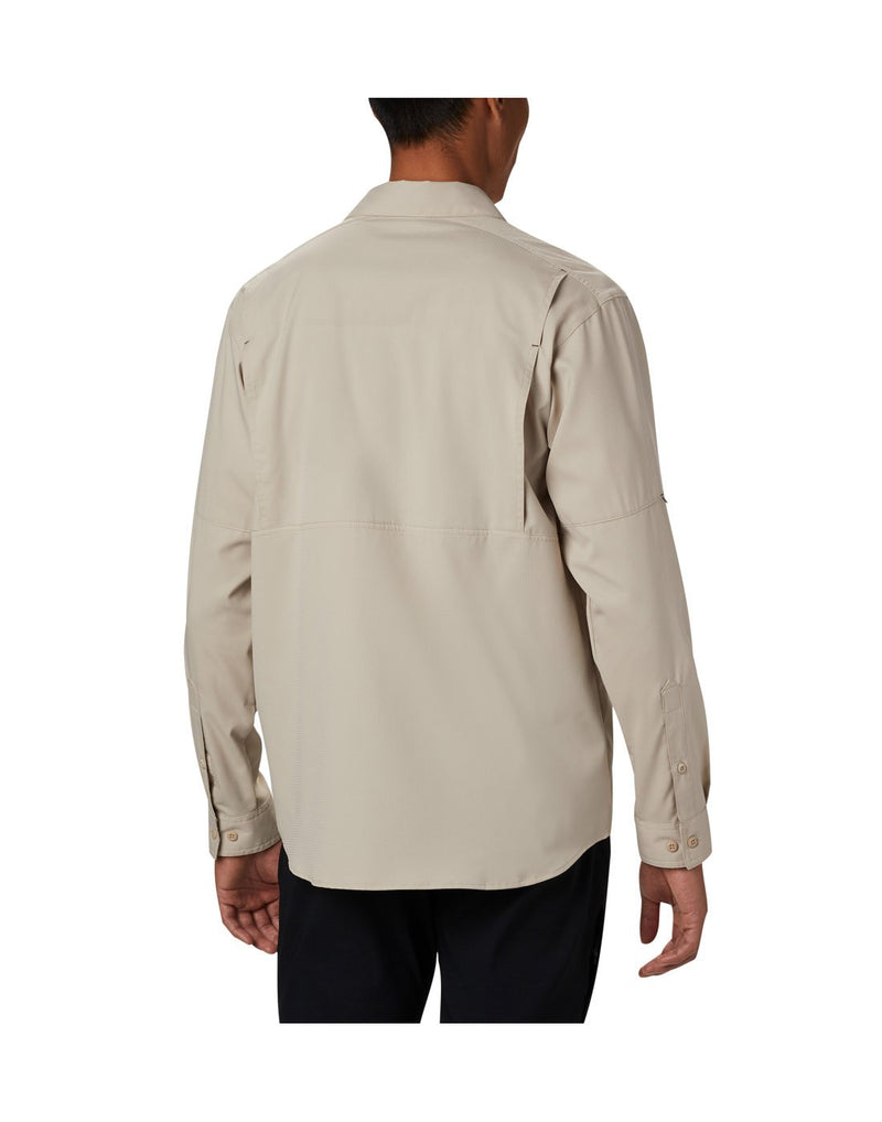 Men wearing fossil colour columbia men's long sleeve shirt back view