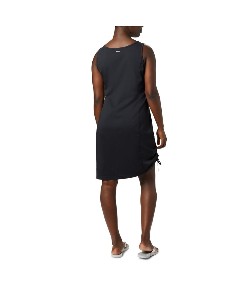 Woman wearing Columbia Women's Anytime Casual™ III Dress - black, back view