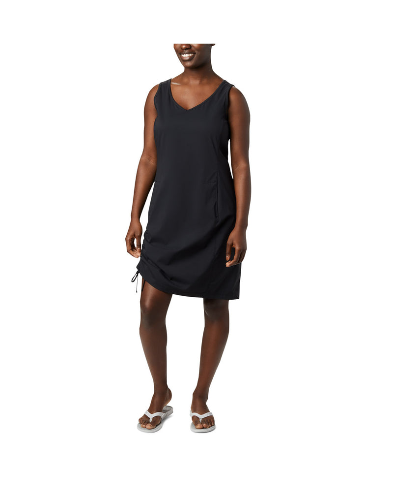 Woman wearing Columbia Women's Anytime Casual™ III Dress - black, front view