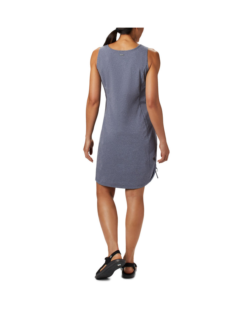 Woman wearing Columbia Women's Anytime Casual™ III Dress - nocturnal heather, back view