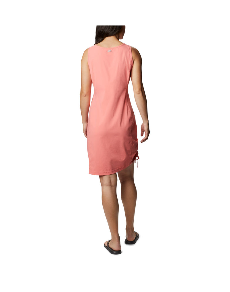 Woman wearing Columbia Women's Anytime Casual™ III Dress - salmon, back view