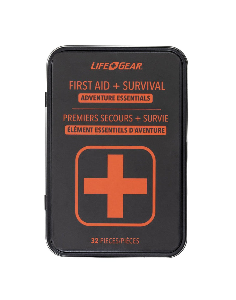 Life gear first aid + survival - adventure essentials tin packaged