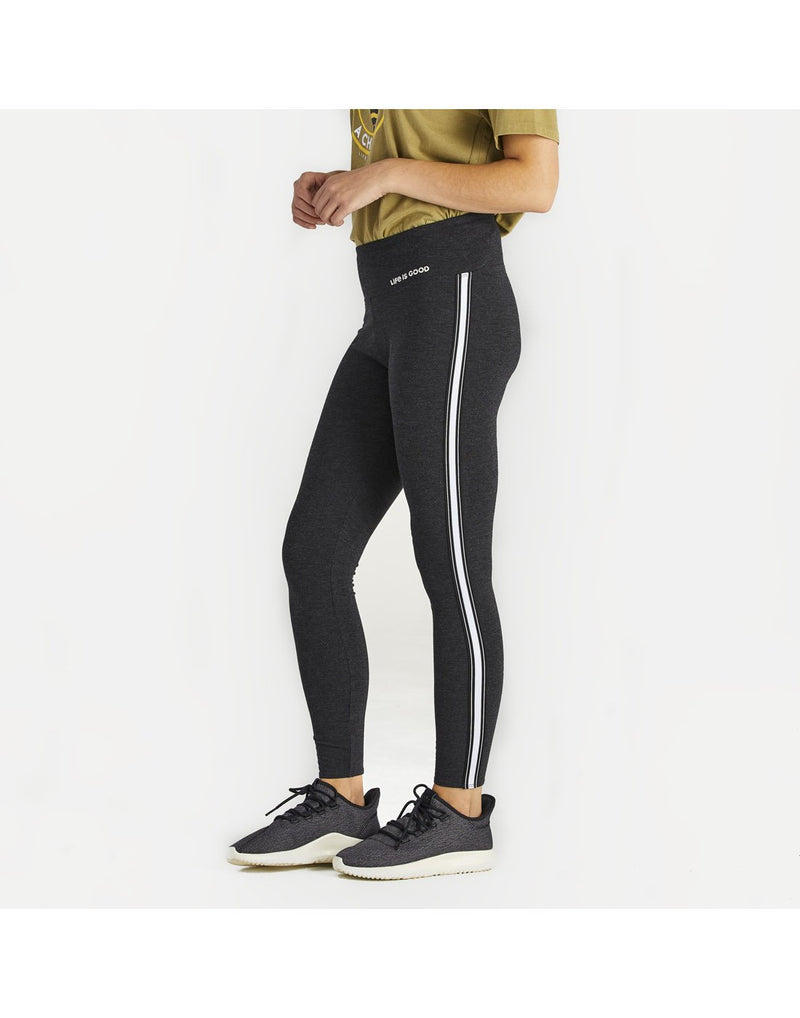 Women wearing life is good women's high-rise legging side view