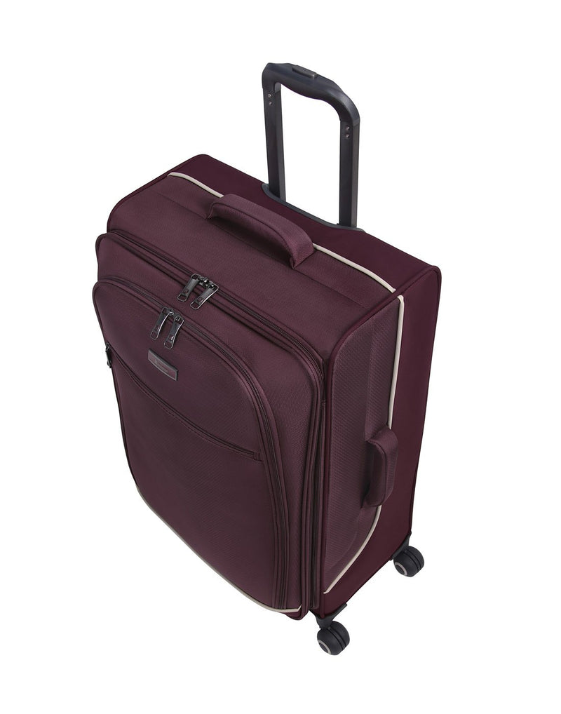 "It encircle 31"" spinner wine red colour luggage bag 3D view"