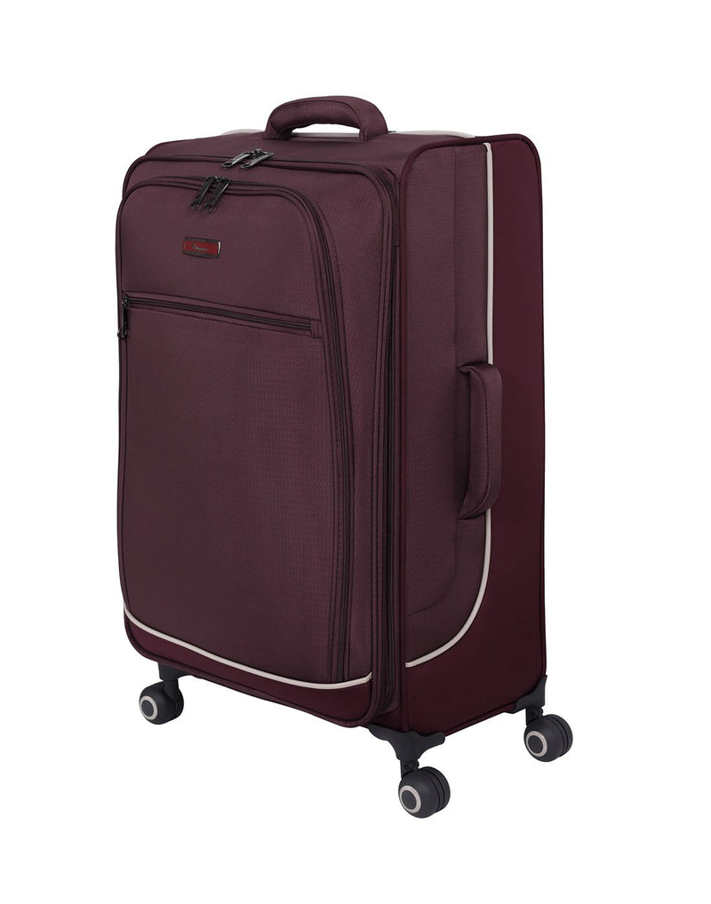 "It encircle 31"" spinner wine red colour luggage bag features"