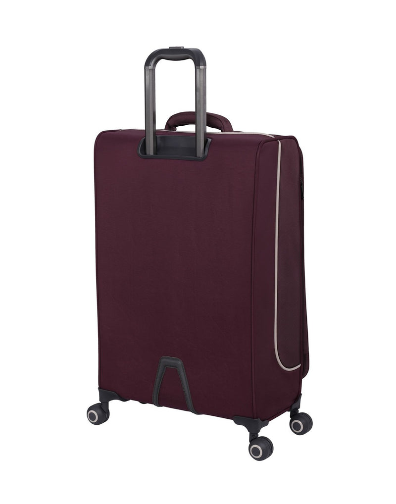 "It encircle 31"" spinner wine red colour luggage bag back view"