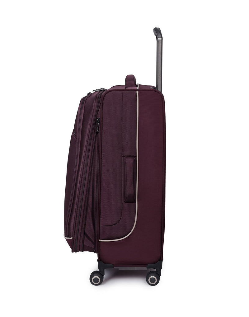 "It encircle 31"" spinner wine red colour luggage bag side view"