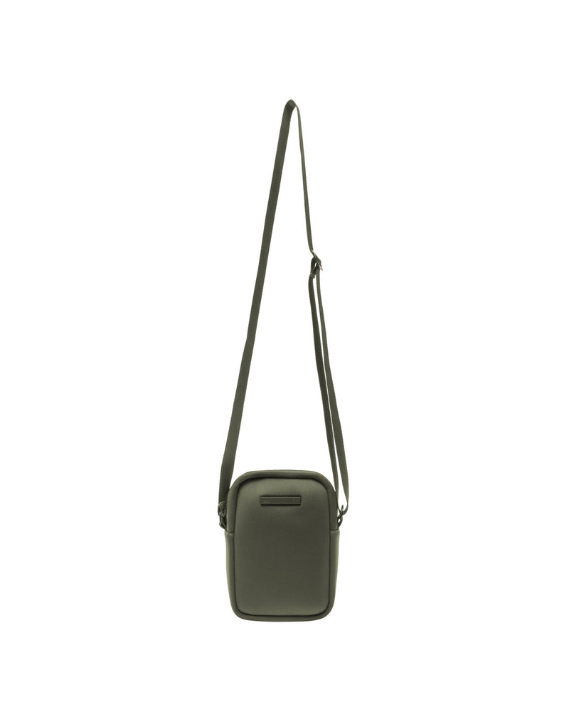 MyTagAlongs Mini Crossbody - everleigh hunter green colour, front view with strap fully extended