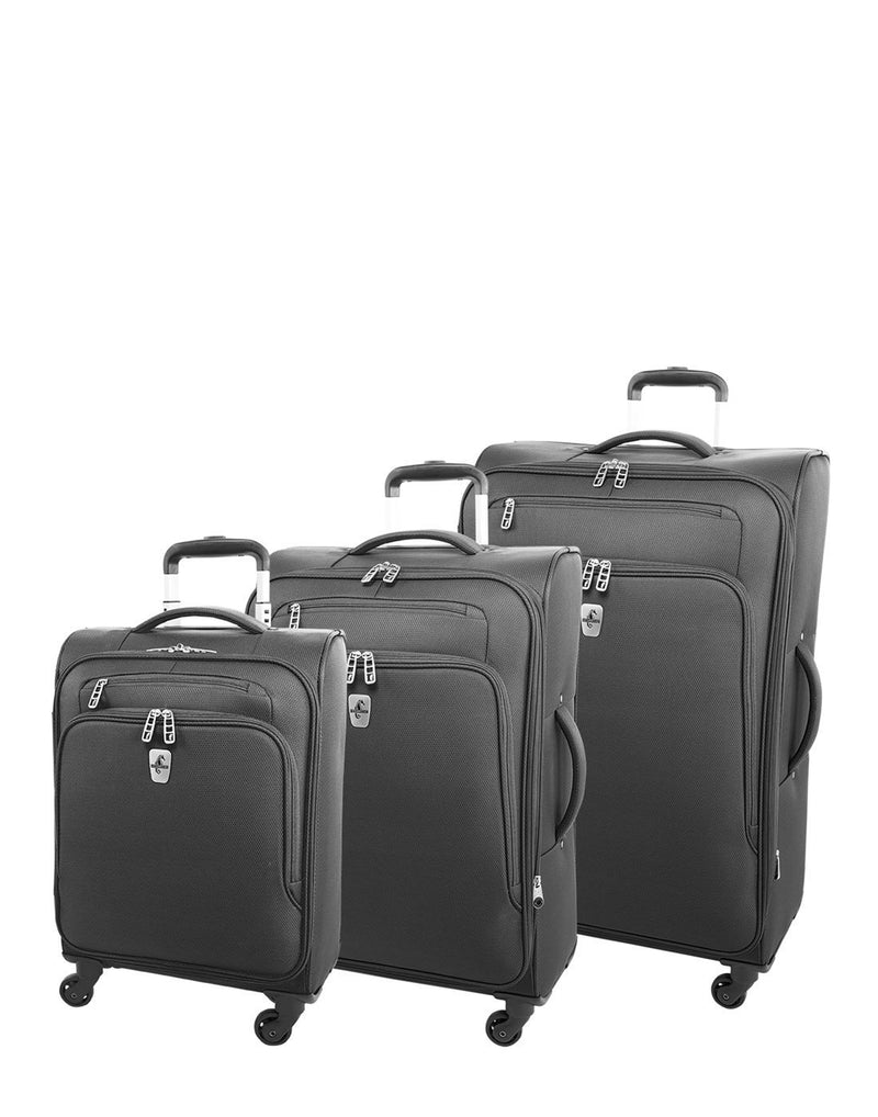 "Atlantic evo lite 19"" carry-on spinner charcoal colour luggage bags group"