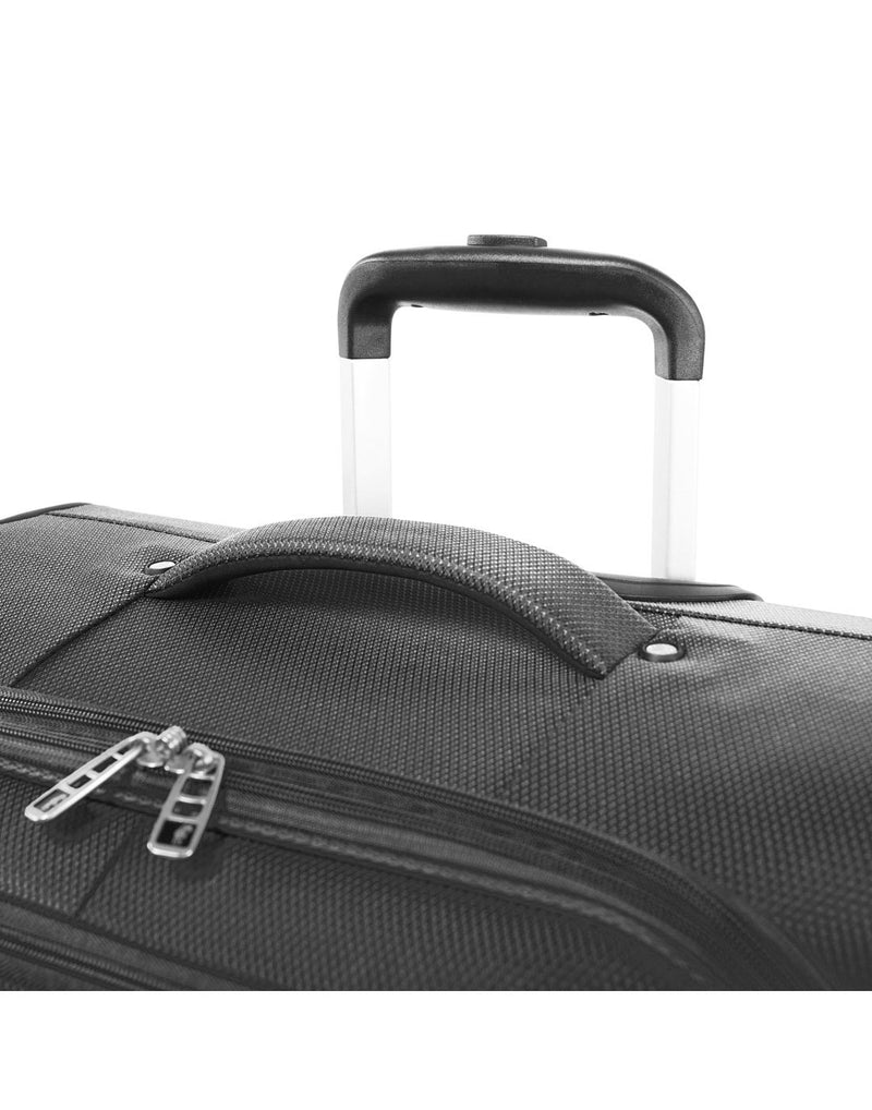"Atlantic evo lite 19"" carry-on spinner charcoal colour luggage bag handle"