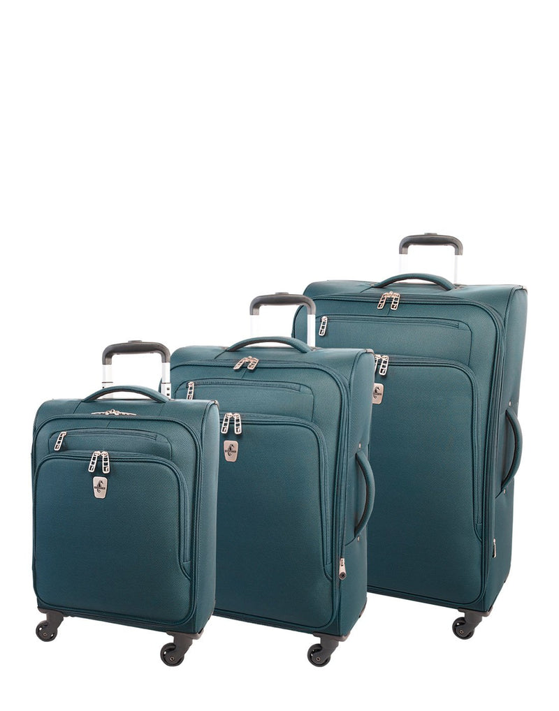 "Atlantic evo lite 19"" carry-on spinner teal colour luggage bags group"