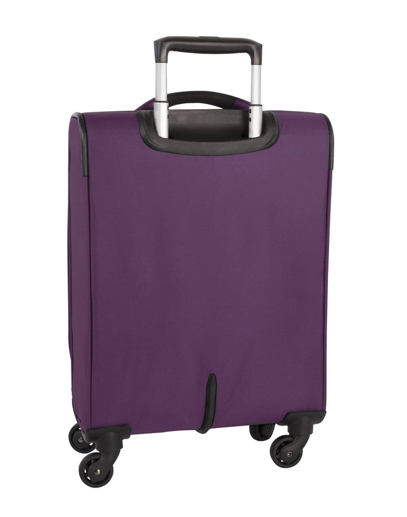 Atlantic solstice 3 piece spinner purple colour luggage set back view
