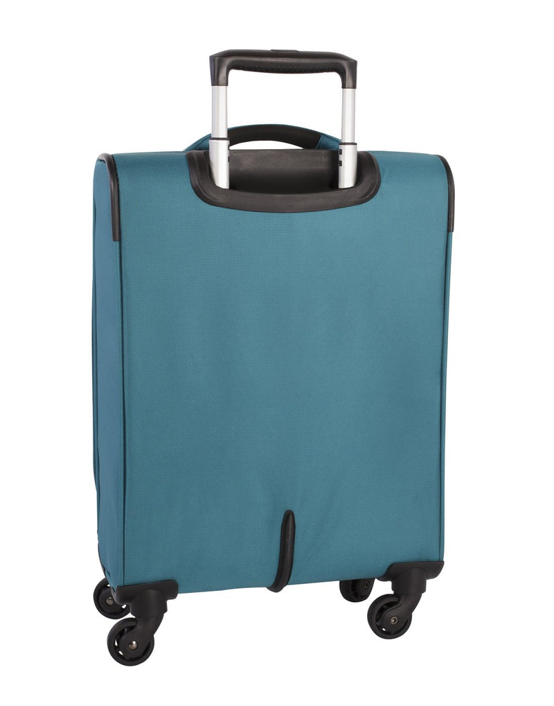 Atlantic solstice 3 piece spinner teal colour luggage set back view
