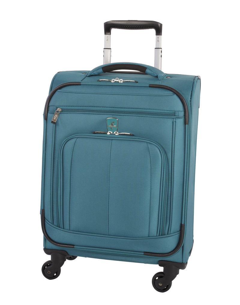 Atlantic solstice 3 piece spinner teal colour luggage set front view