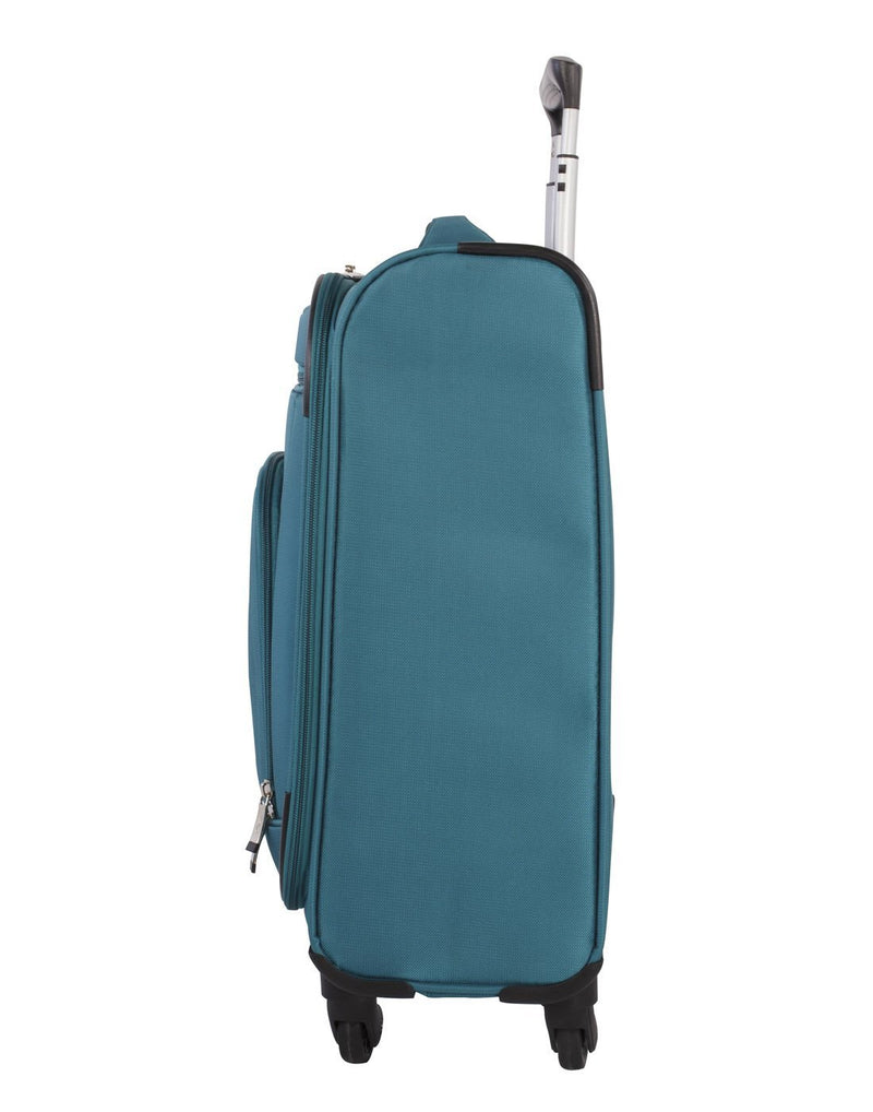 Atlantic solstice 3 piece spinner teal colour luggage set right side view