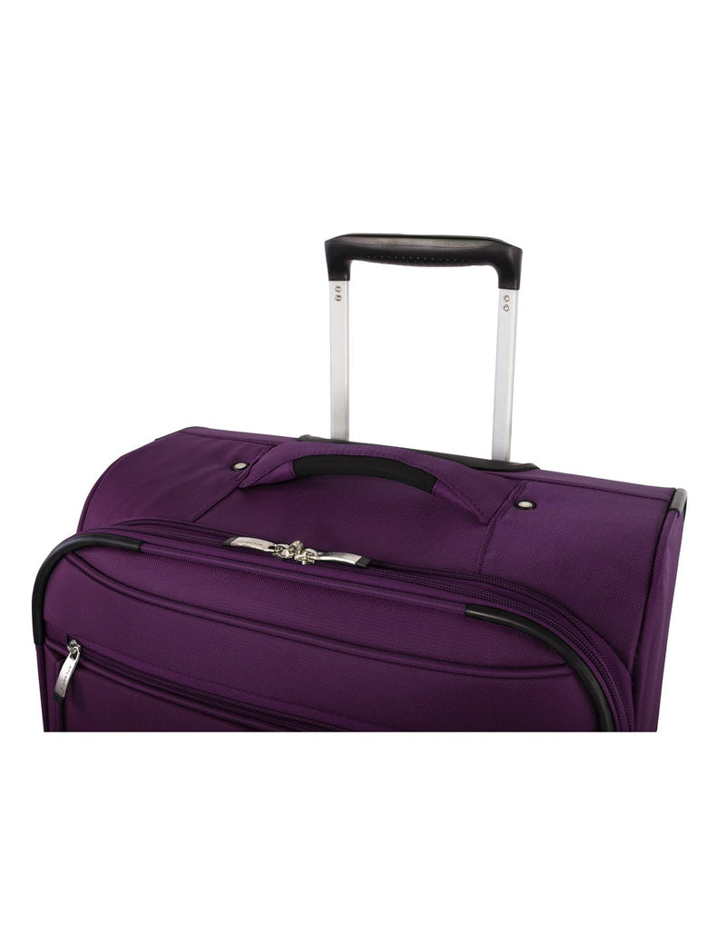 Atlantic solstice 3 piece spinner purple colour luggage set handle